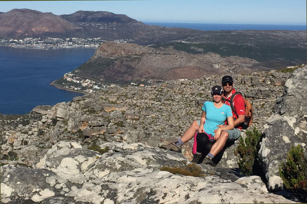 Martin and Catherine: The cutest couple on Kalk Bay Peak. (Note the definite smile on Catherine's face.)